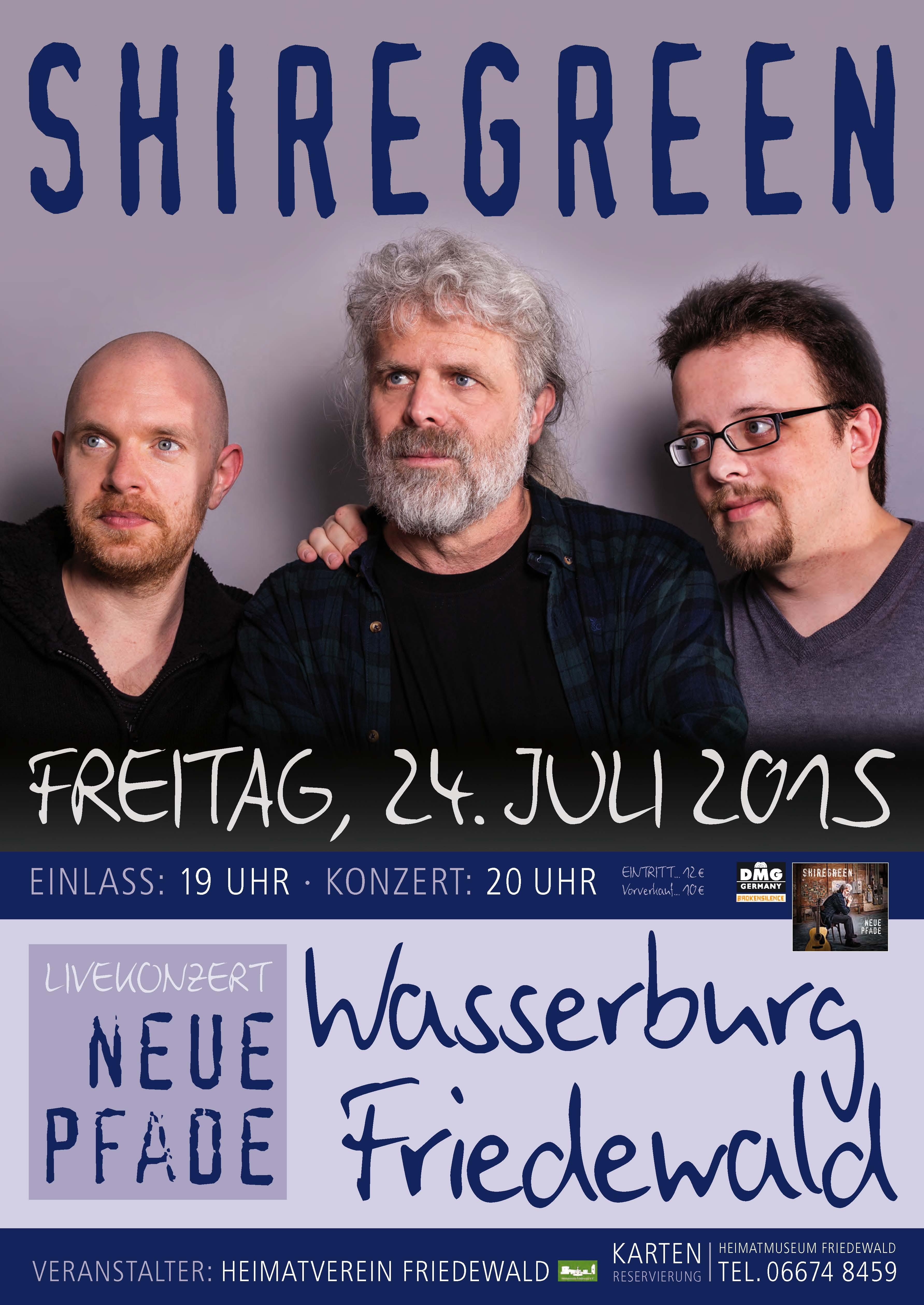 Plakat Shiregreen Friedwald Konzert